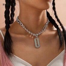 Ingesightz панк хип хоп бритвенные лезвия в форме подвески ожерелье