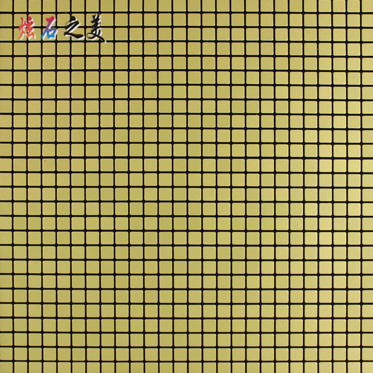 10 * 10MM Mirror Gold Metal Aluminum Plate Mosaic Television KTV Wall Wallpaper Gum Self-Adhesive