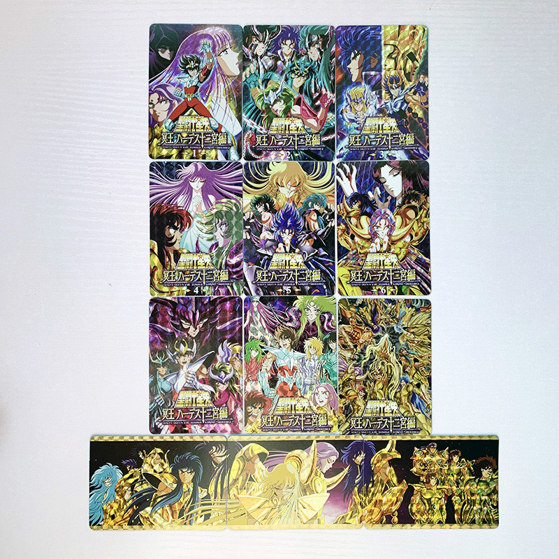 12pcs/set Saint Seiya The Signs Of The Zodiac Toys Hobbies Hobby Collectibles Game Collection Anime Cards