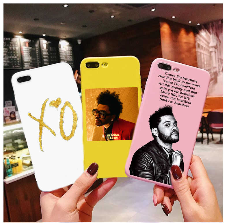 The Weeknd Candy Color TPU Case phone For iphone X 7 XS XR XSMAX 11 11Pro 11ProMax Heartless case Cover