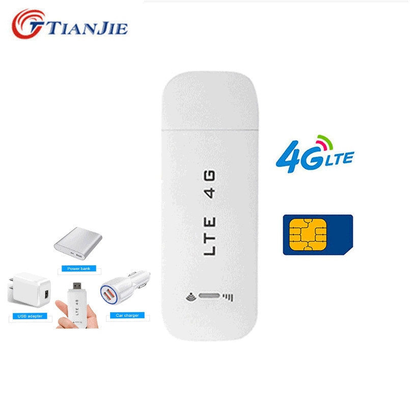 TianJie 3G/4G USB Router Wireless Wifi Router 4G LTE Car USB Modem Mini Wifi Stick 4G Sim Card Data Mobile Hotspot Modem Dongle