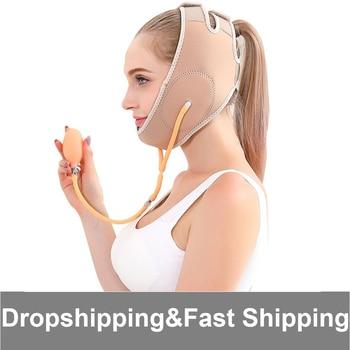 Sculp Mask Physical Facial Lifting Belt Air Compression Chin Slim Strap Lift V Face Slimming Belt Face Lift Up Cheek Neck Shaper v neck belt button up waistcoat