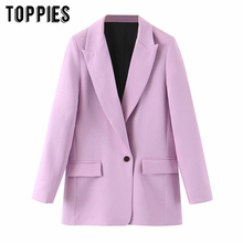 2020 fashion Violet blazer womens suits single button jacket