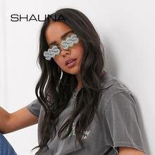 Солнцезащитные очки без оправы shauna прямоугольные uv400