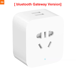Image 1 - Новинка, умная розетка Xiaomi Mijia с Bluetooth шлюзом, двойной USB, умная WIFI розетка, адаптер питания, умное домашнее устройство