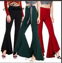 7 colors sale women trousers fashion flare pants Wide leg bell bottoms 2019 new style high waist pants