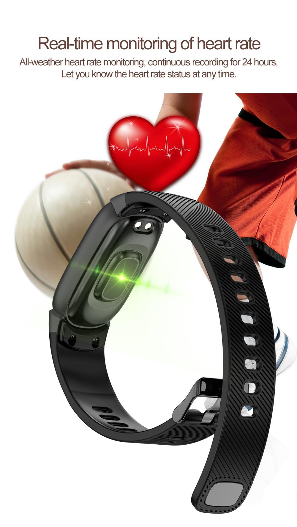 QW16 Smart Band Heart Rate Tracker Fitness Tracker Smartband Smart Bracelet Waterproof Smart Wristband Smart Watch pk mi band 3 (3)