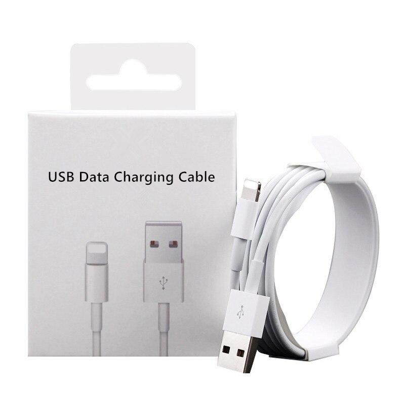 Оригинальный USB-кабель для зарядки и передачи данных, 1 м, 2 м, для iPhone 6S, 6, 7, 8 Plus, 11 Pro, XS, Max, X, XR, SE 5S 5C, 5 USB-кабелей для зарядки с розничной коробкой
