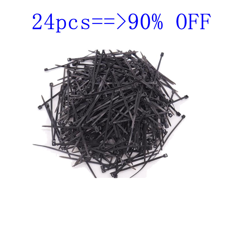 Nylon Cable Tie 3 * 60 Self-locking 1.9mm Cable Tie With Flame Retardant Plastic Buckle Binding Line Smooth Mini Binding