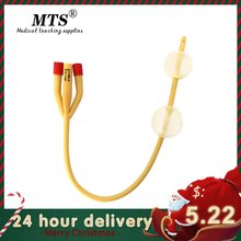 Catheter Sterilized Silicone-Coated Urethral Latex Foley Sex-Urinary Male 3-Way Double-Balloon