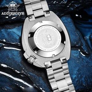 Image 5 - ADDIES Abalone גברים NH35 אוטומטי צלילה לצפות 200M עמיד למים ספיר קריסטל נירוסטה מכאני גברים של שעון
