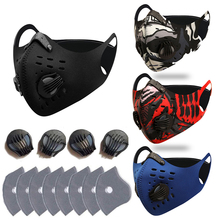 Carbon-Mask PM2.5-FILTER Mouth-Face-Mask Protective Anti-Pollution Reusable Masque