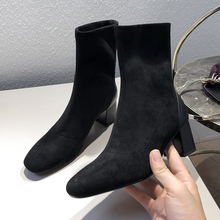 Plus Size 34-43 2020 New Fashion Spring Autumn Ankle Boots Women Thick Heel Boots Ladies Boots Martin Boots High-heeled Shoes стоимость