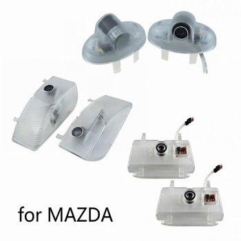 2 шт. для MAZDA ATENZA 6 8 мазда6 RX8 CX-9 CX9 RUIYI мазда8 MPV светодиодные двери автомобиля Добро пожаловать Световой Лазерный проектор логотип светильник Т...
