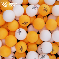 BOER One pack 100pcs Table Three stars Tennis Balls Seamless ABS 40+ Balls Plastic Ping Pong Balls Durable High elastic Durable