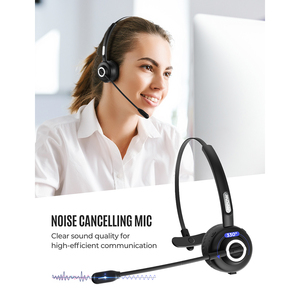 Image 2 - Mpow TH1 Bluetooth Headset Wireless Headphone With Noise Cancelling Mic Mute Fucntion Charging Dock For Truck Driver Call Center