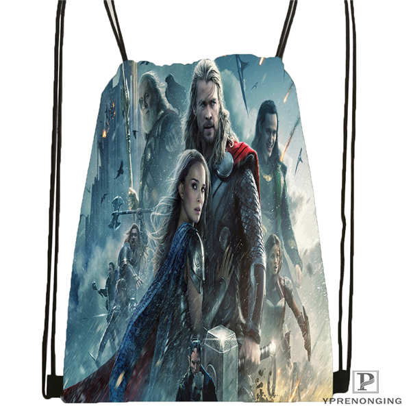 Custom Tom-Hiddleston-Loki Drawstring Backpack Bag For Man Woman Cute Daypack Kids Satchel (Black Back) 31x40cm#20180611-03-143