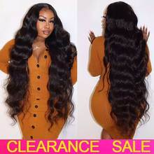 Frontal Wigs Human-Hair-Wigs Curly Transparent-Lace Wavy Deep-Wave Long-Brazilian 10-28inch