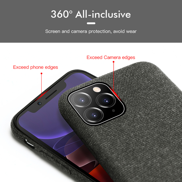 Luxury Plush Fabrics Soft Back Cover For iPhone 11 Pro MAX Case Cotton Linen Cloth Phone Cases For iPhone X 8 7 6 6S Plus Coque 2