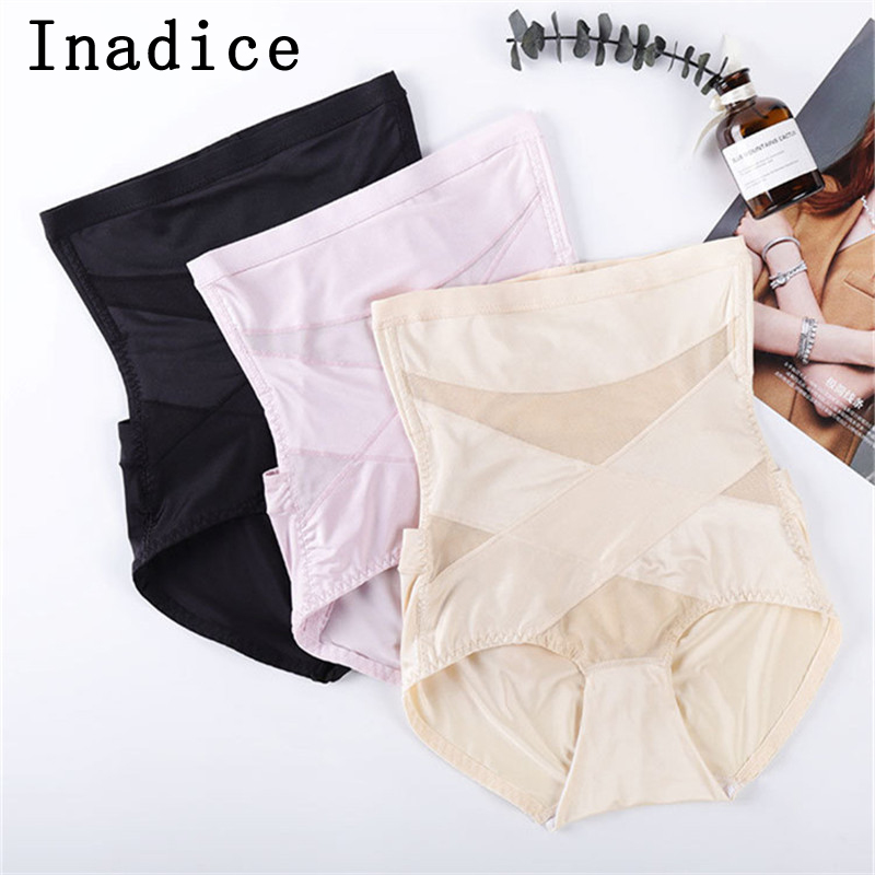 Inadice 2019 High Waist Control Panties Women Lace Polyester Body Shaper Sexy Underwear Seamless Comfortable New Corset Belt