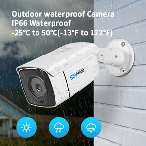 Image 5 - H.265 IP POE 보안 카메라 오디오 5MP 3MP 금속 방수 POE ONVIF 총알 모션 Dectection 야외 CCTV 감시 카메라