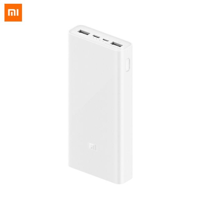 Cargador portátil Original Xiaomi 3 20000mAh compatible con QC3.0 Dual USB tipo c mi batería externa 20000 para teléfono