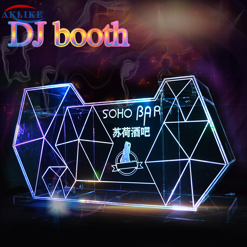 Led Light Table Decoration DJ Booth DJ Table AKLIKE Acrylic Podium Jbl Speakers Dj Line Array Sound Systems Equipment Dj Profess