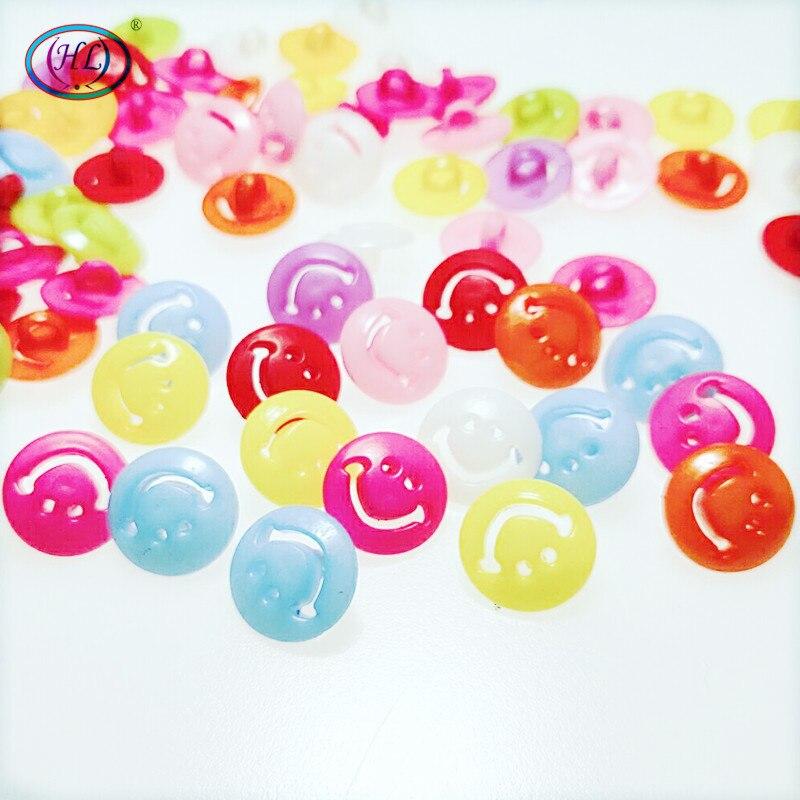 100P 15mm Wholesale Mix color cute smile children apparel buttons sewing accessories diy lots A185