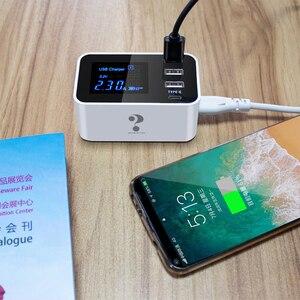 Image 5 - Carregador de celular com 4 portas usb tipo c, adaptador de tomada usb para android, iphone, xiaomi, huawei samsung s10