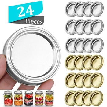 1pc Mason Jar Lids Leak Proof Sealing Tinplate Food Keeping Fresh Mason Canning Jar Caps with Wide Mouth Kitchen Supplies image