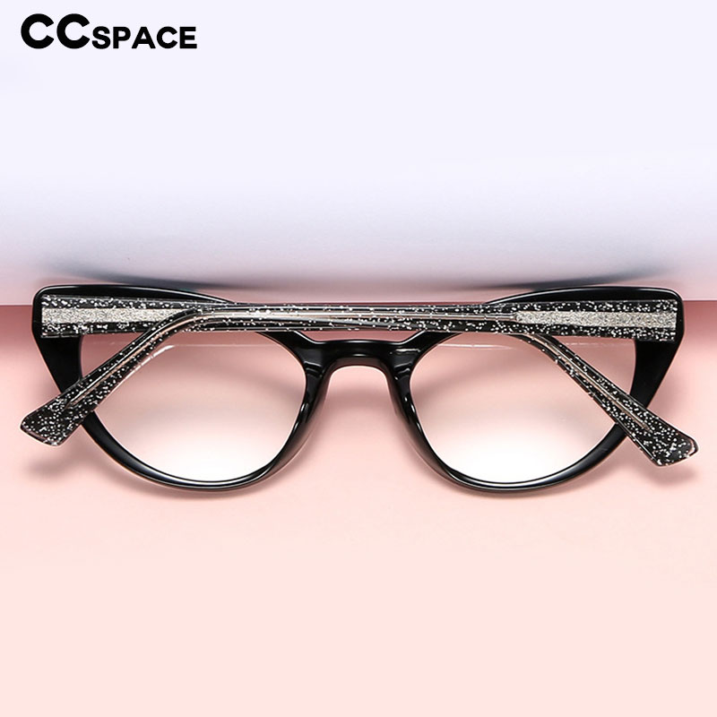 47343 Plastic Titanium Cat Eye Anti-blue Light Glasses Frames Ultralight Men Women Optical Fashion Computer Glasses