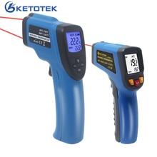Digitale Infrarood Thermometer  50 ~ 400/600/750/1100/1300/1600 Enkele Dual Laser Non contact Thermometer Gun Temperatuur Meter