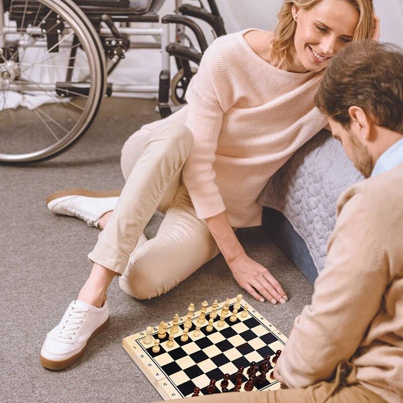 Qualidade superior de madeira quente conjunto xadrez