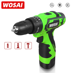 WOSAI 16V Impact Cordless Screwdriver Cordless Drill Impact Electric Drill Power Tools Hammer Drill Electric Drill Hand