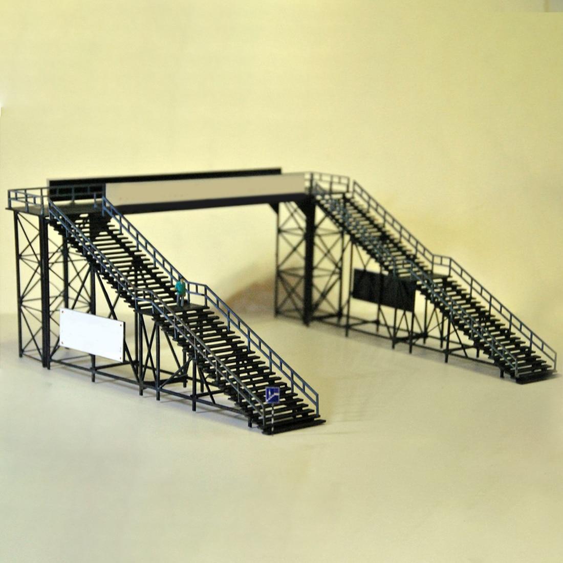 Surwish 1 Pcs 1:87 HO Scale Railway Station Footbridge Model Sand Table Scene Decoration Model Kit