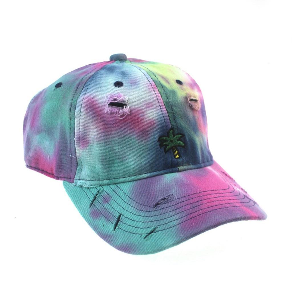 Купить хлопковая кепка с вышивкой и принтом tie dye женские бейсболки