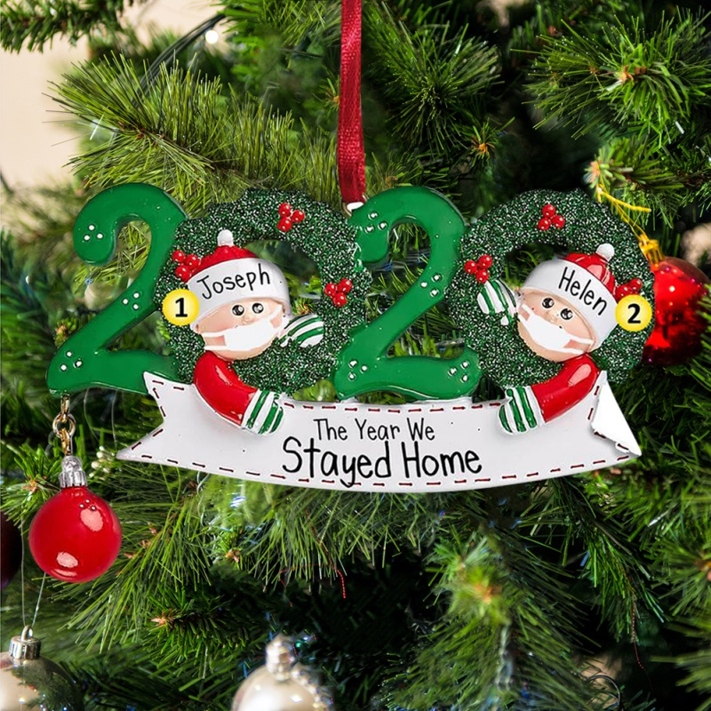 LDream Christmas Decorations Indoor 2020 Christmas Ornament Quarantine Survivor Personalized Decorating Gifts Customized Party Decor for 1-7 Family Members-WM03//6W3
