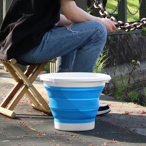 Image 4 - 자동차 접는 양동이 다기능 물 저장 양동이 텔레스코픽 스토리지 박스 세차 야외 낚시 양동이