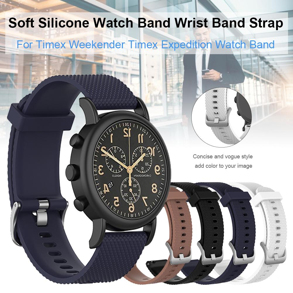 20mm Multi-color Wide Smart Watch Strap For Timex Weekender / Timex Expedition Watch Smart Watch Strap Silicone