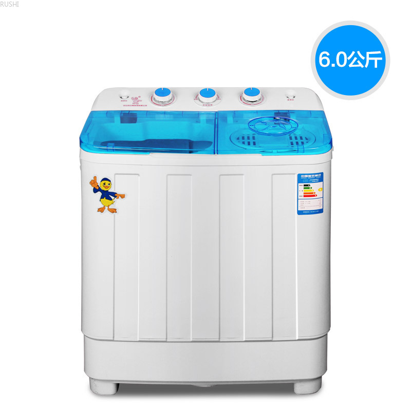 220V 250~300W  6kg Double Barrel Washing Machine Twin-tub Semi-Automatic Washing Machine Family Househould Use Clothes Washer