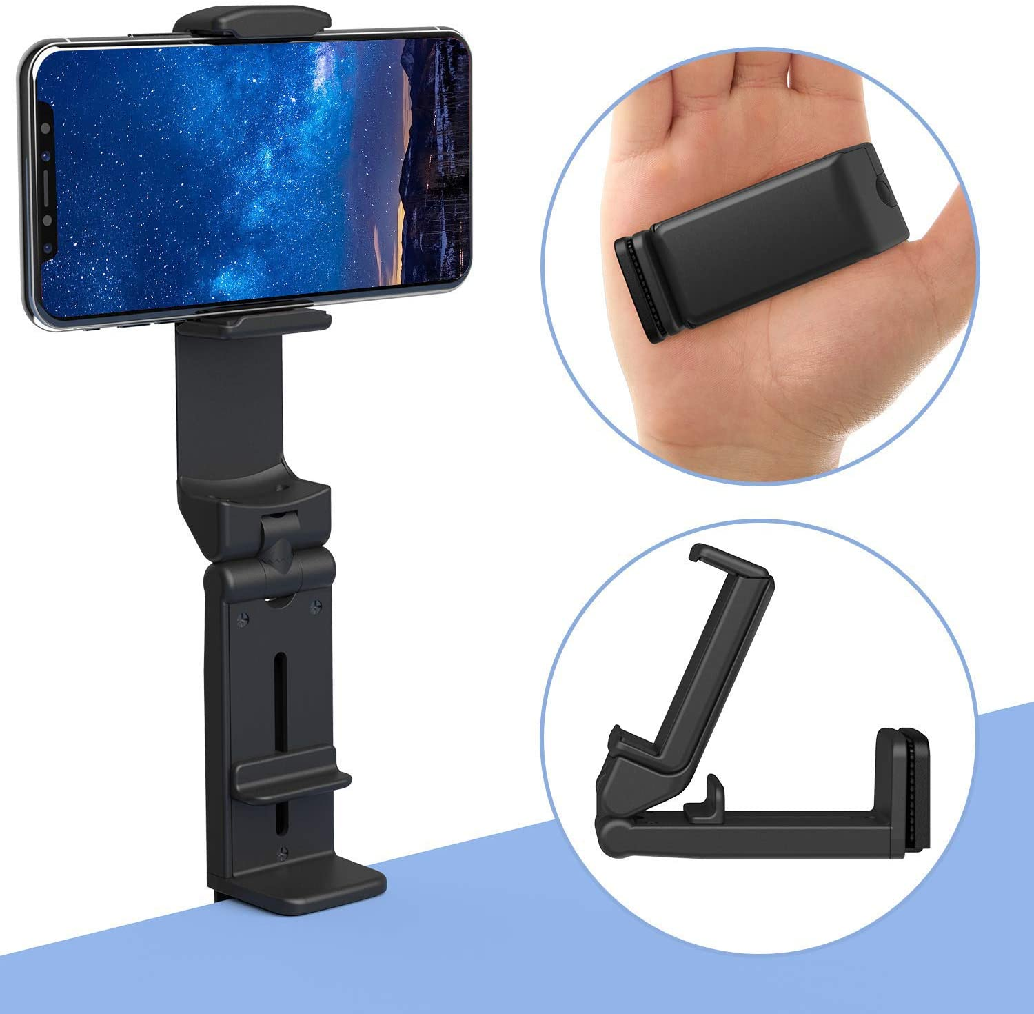 Phone Stand Holder Universal Cell Phone Mount 360 Degree Rotating Adjustable Phone Clamp For IPhone X/XS/8P