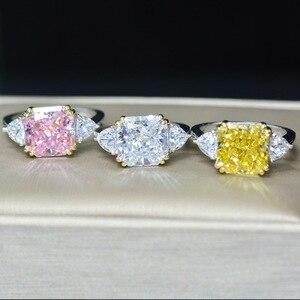 Image 3 - Роскошное обручальное кольцо для женщин, квадратное кольцо AAAAA + с кристаллом из циркония, романтическое свадебное женское кольцо, вечерние Подарочные Кольца для девушки