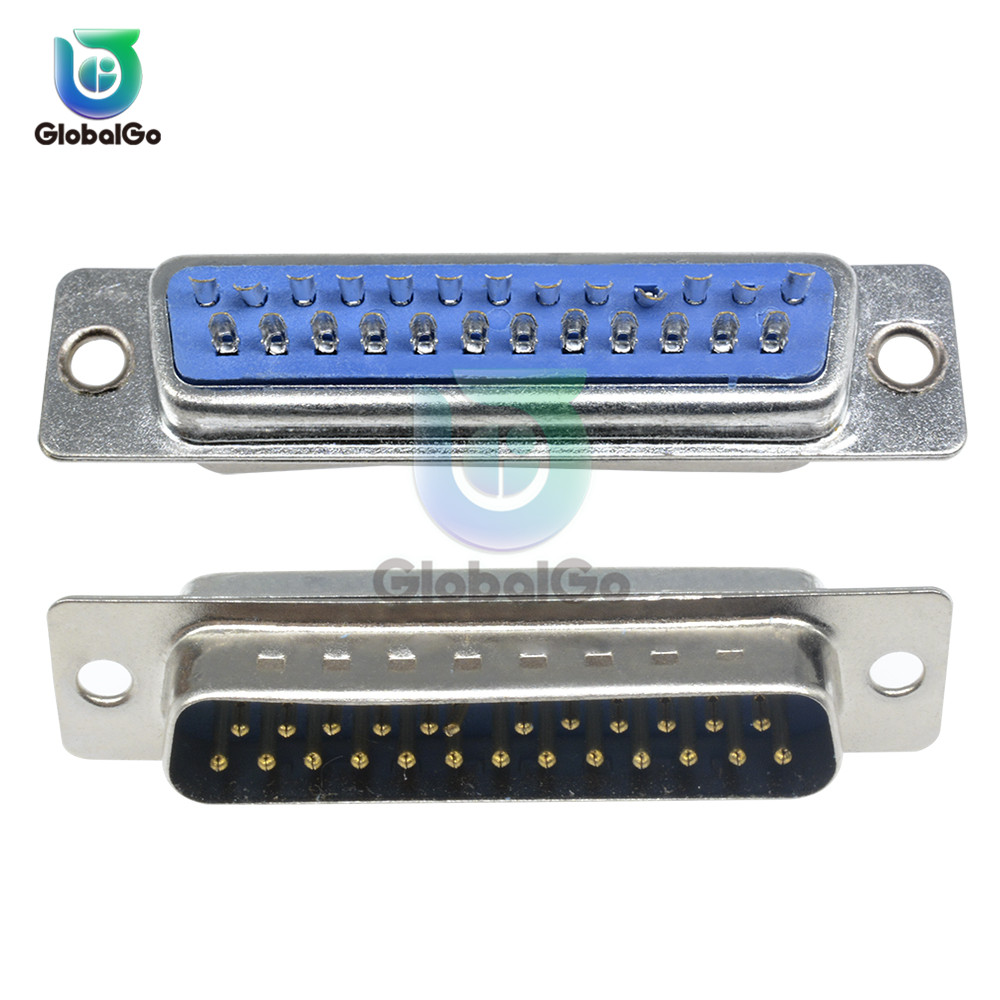 DB25 Female Male Solder Welded Connector DB D SUB Adapter 25pin Male Female Converter in Connectors from Lights Lighting