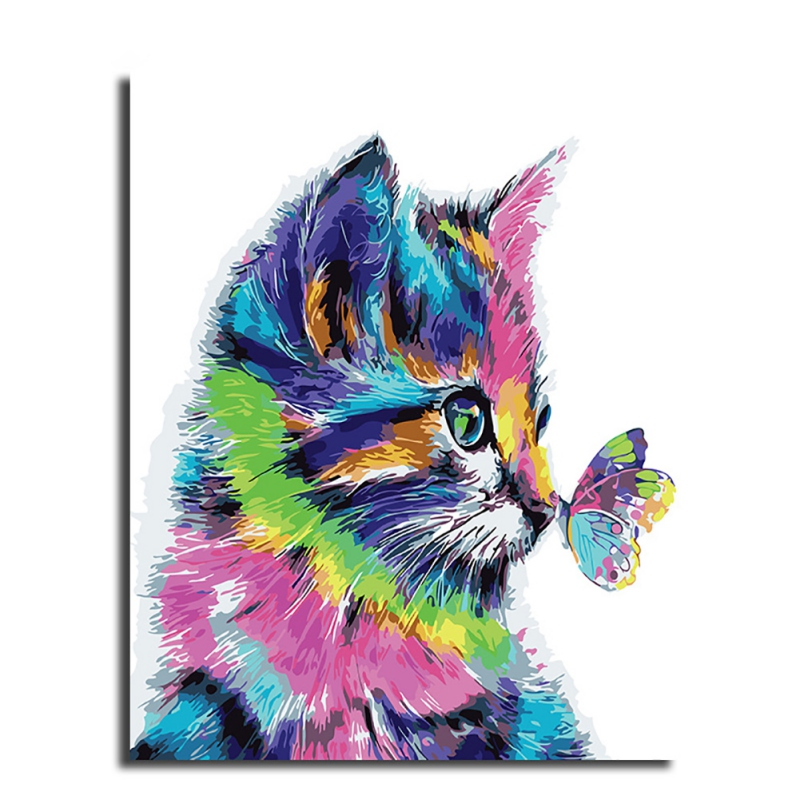 Frameless Colorful Lion Animals Abstract Painting Diy Digital Painting By Numbers Modern Wall Art Picture For Home Wall Artwork