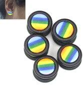 2PCS Steel Acrylic Fake Ear Plug Tunnels Punk Plugs and Stretcher Tunnel Stud Earring Piercing Sex Body Jew