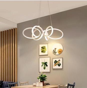 Living room chandelier simple modern lantern chandelier creative personality postmodern Nordic lamps