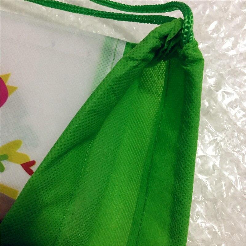 Novo 12 pçs dinossauro drawstring mochila tecido