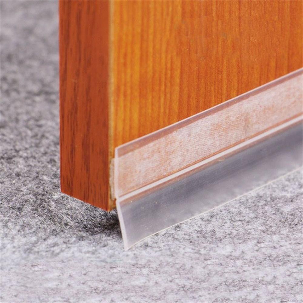 1pc 1M Windproof Dustproof Waterproof Pest Control Transparent Color Silicone Rubber Window Bar Door Sealing Strip