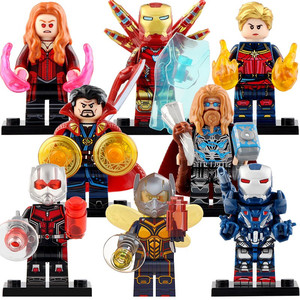 24 Style Superheroes Building Block Doll Iron Man MK Building Figurines Assembled Minifigures Boys 4-12 Years Old Compatible