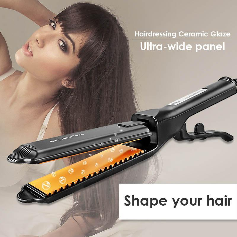 Portable Electric Hair Straightening Iron Hair Curlers Ceramic Heating Fluffy Wave Hair Corrugated Curling Iron Styling Tools
